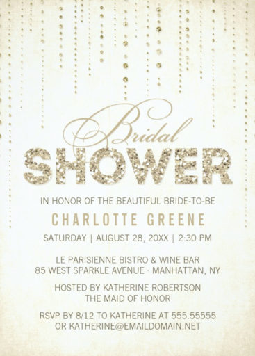 Glitter Look Bridal Shower Invitation