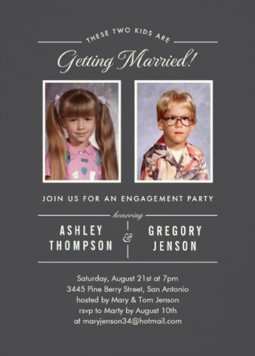 Old Photos Engagement Party Invitation