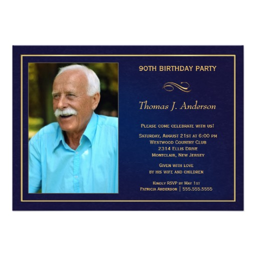 90th birthday party invitations add your photo