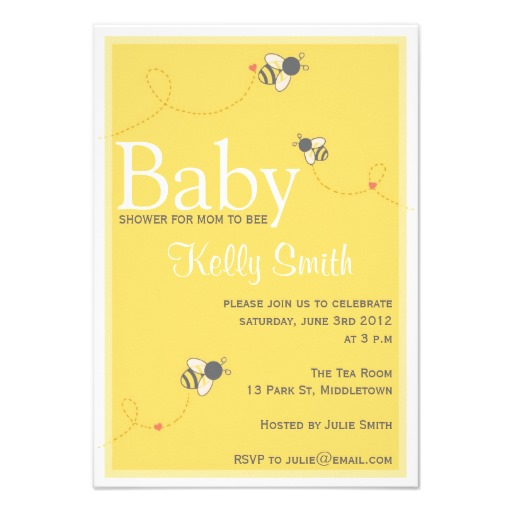 com bumble bee baby shower invitation superdazzle custom invitations