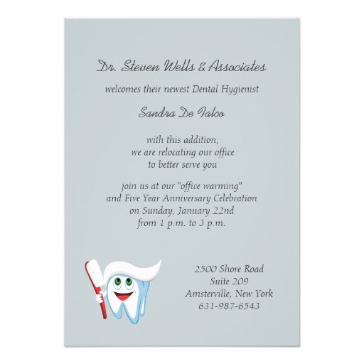 Brush and tooth dental announcements invitations