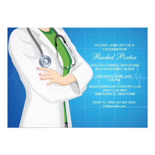 Nurse graduation invitations