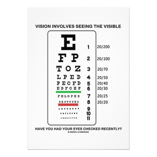 Vision involves seeing the visible medical event invitation template