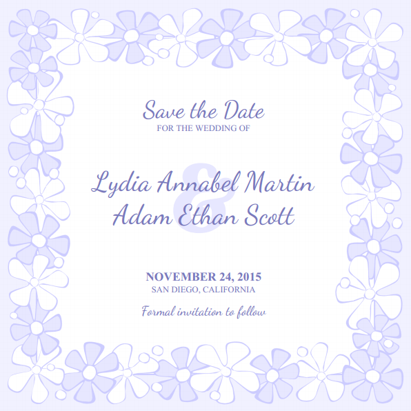 printable wedding save the date templates