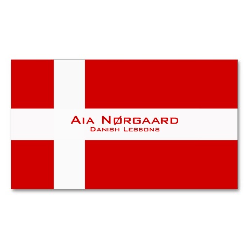 Danish flag business cards / Danish teacher business cards
