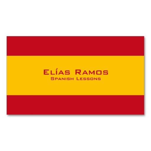 Spanish flag business cards / Spanish teacher cards