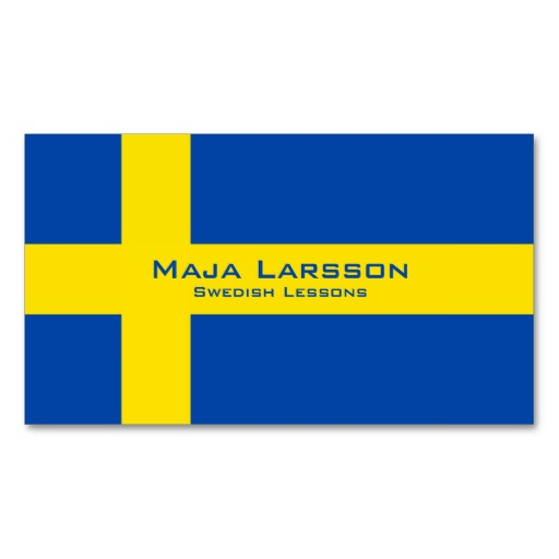 Swedish flag business cards / Swedish teacher business cards