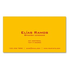Back of Spanish flag business cards / Spanish teacher cards