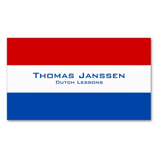 Dutch flag business cards / Dutch teacher business cards