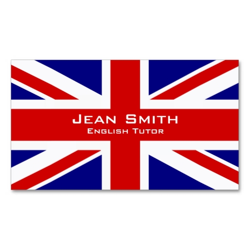 Union Jack business cards / English teacher business cards