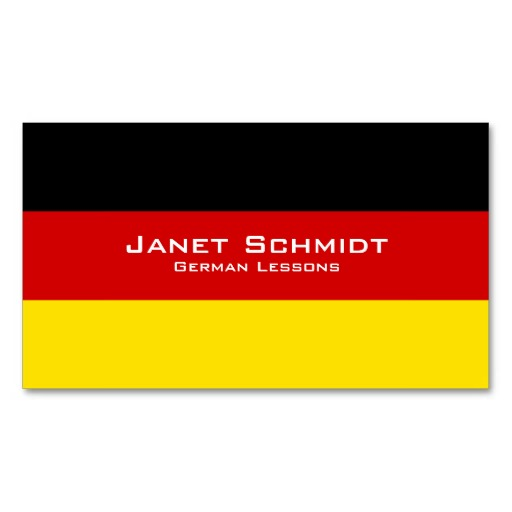 German flag business cards / German teacher business cards