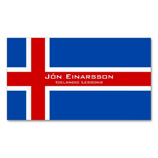 Iceland flag business cards / Icelandic teacher business cards