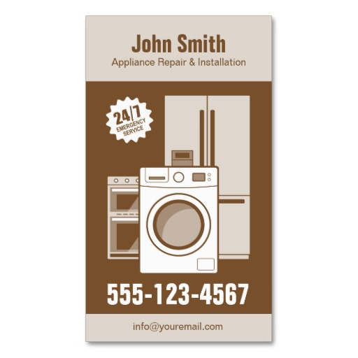 Appliance repair business cards templates