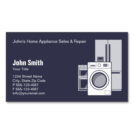 Home appliances business card sale and repair