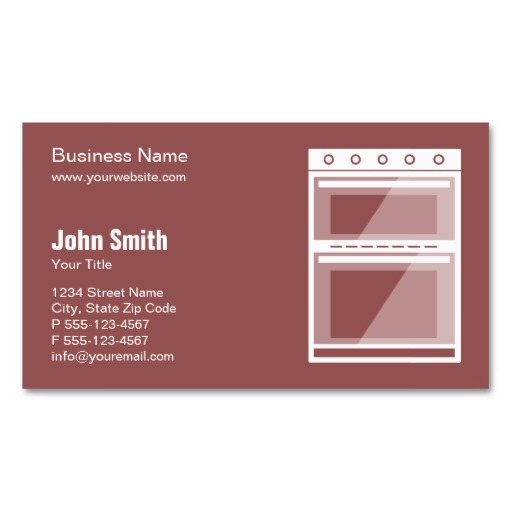 Oven business cards - Catering & Repair