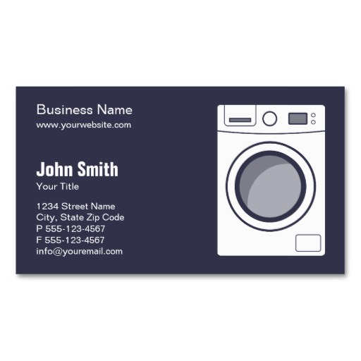 Washing machine business cards - Laundry & Repair
