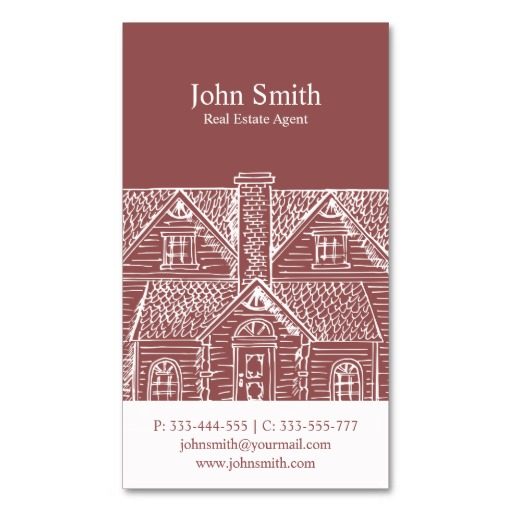 Custom brick color real estate business card template