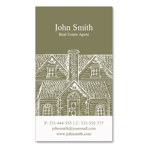 Vintage home real estate business card template