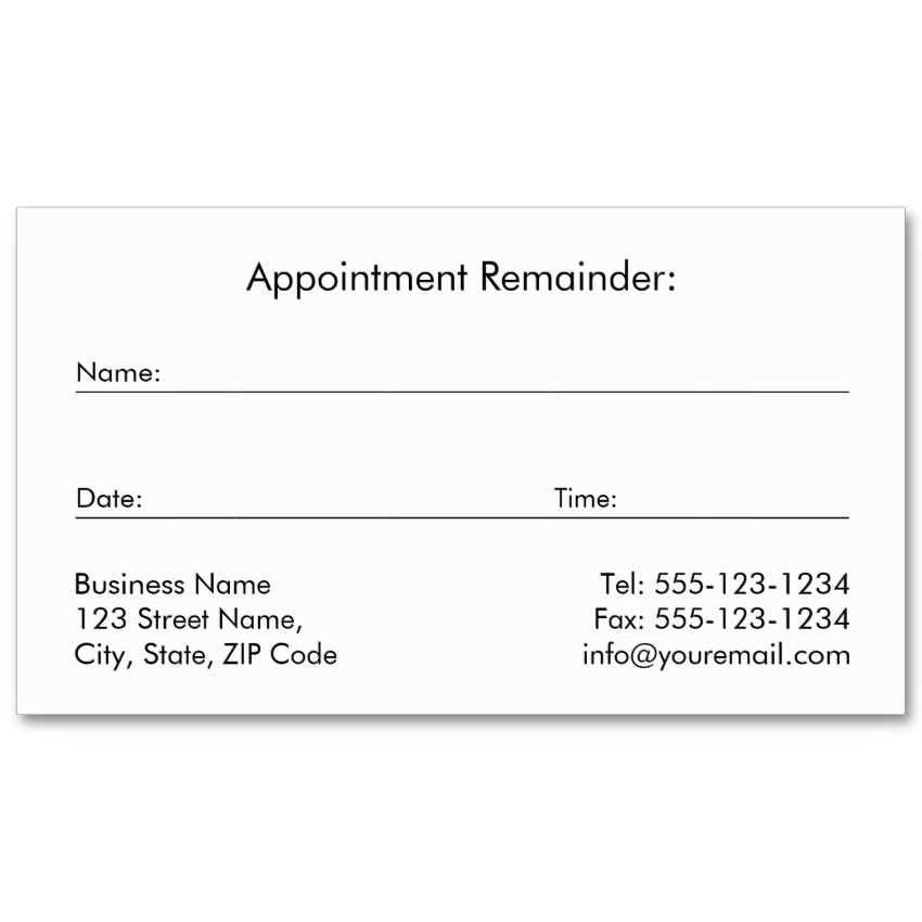 Black canvas dental cards golden tooth appointment card