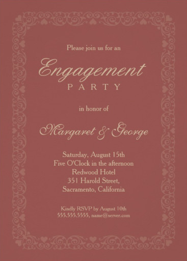 Engagement Card Template. wedding invitation maker printable ...