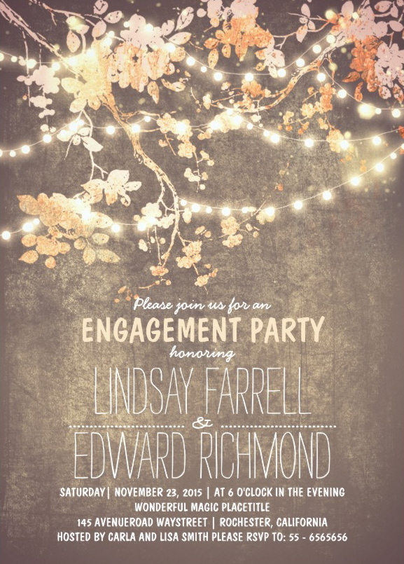 Rectangle Engagement Party Invitations Archives Superdazzle – Photo Engagement Party Invitations
