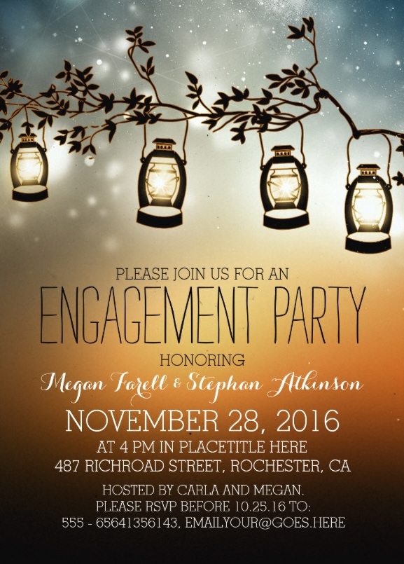 Beautiful Engagement Party Invitations Personalize online – Online Engagement Party Invitations
