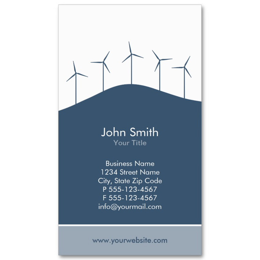 Wind turbines business card templates