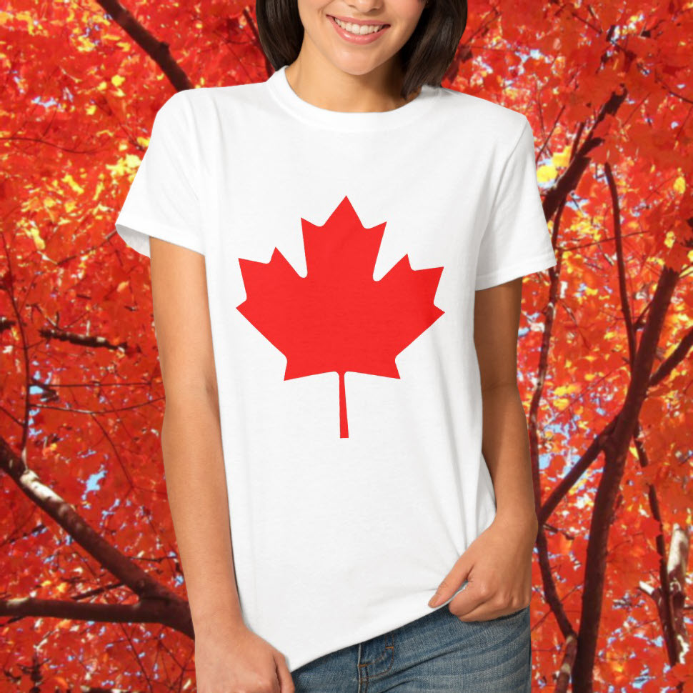 Canada t shirt - Red Canada maple flag