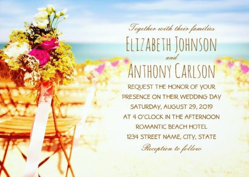 Wedding On The Beach Wedding Invitations