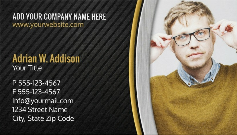 Creative Accountant Photo Business Cards - Financial Adviser Cards