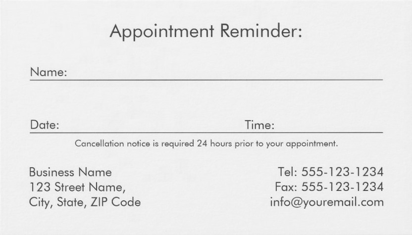 appointment back