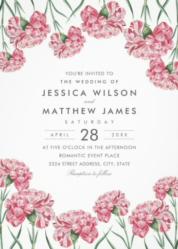 Elegant Vintage Floral Wedding Invitations