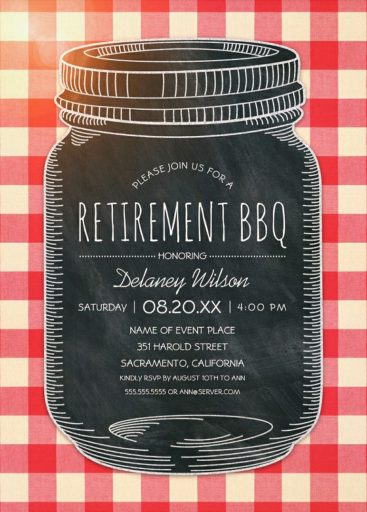 Retirement BBQ Invitations Rustic Retirement Party Invitations