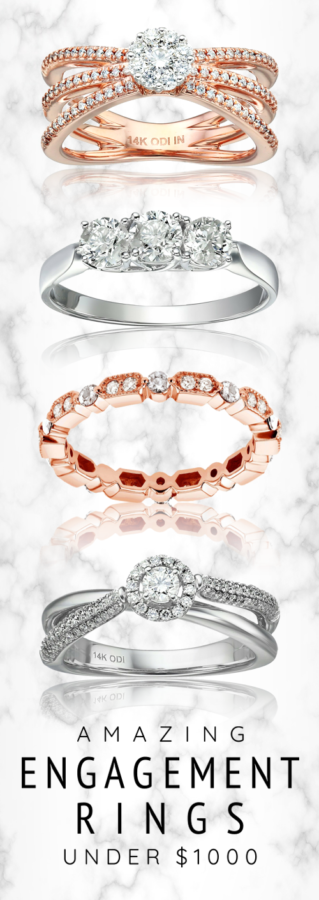 Affordable engagement rings under 1000 Dollars