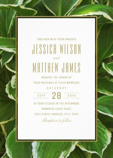 Tropical Floral Hawaiian Beach Wedding Invitations