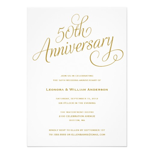 50Th Wedding Anniversary Invitation - Superdazzle - Custom