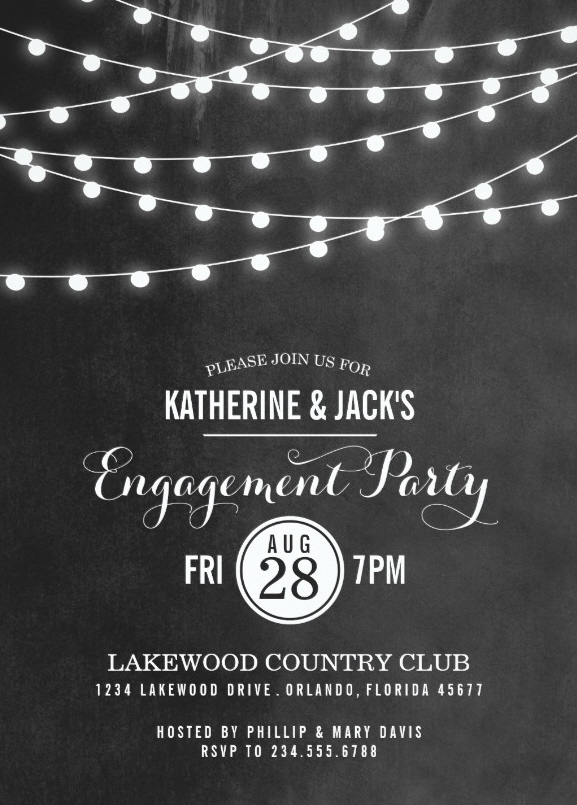 Chalkboard Engagement Invitations Archives Superdazzle