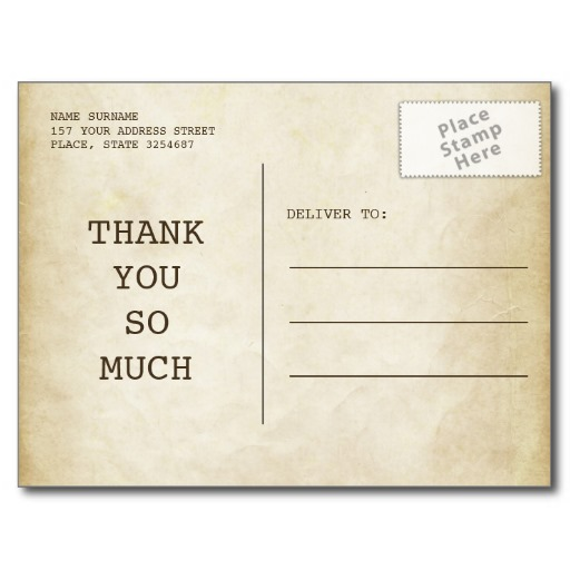 telegram thank you card for wedding postcard back superdazzle