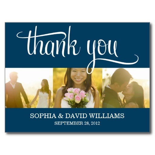 Trendy thanks wedding thank you card post card