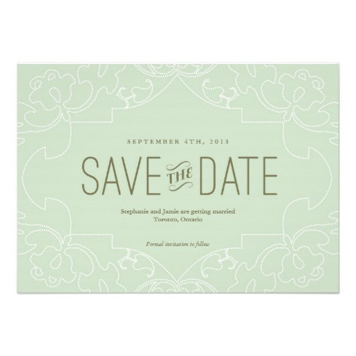 lacy save the date aqua announcement