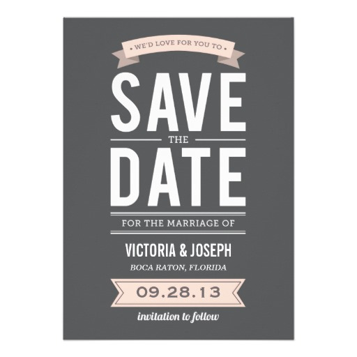 Vintage poster save the date announcement - Superdazzle - Custom Invitations & Business Cards