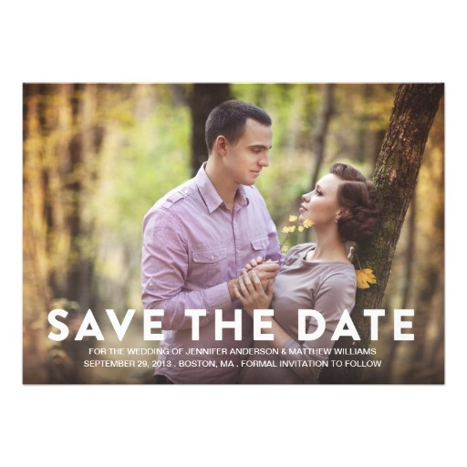 your photo save the date announcement
