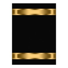 Black gold black corporate party invitation templates back