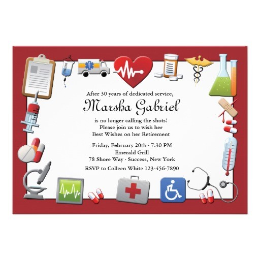 medical retirement invitations