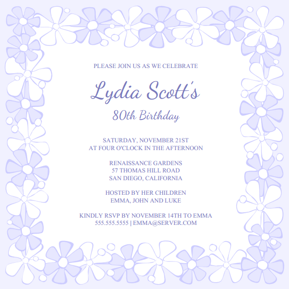 Free invitation templates - Download and Print