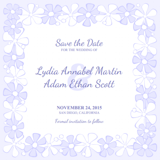 Free printable wedding save the date templates
