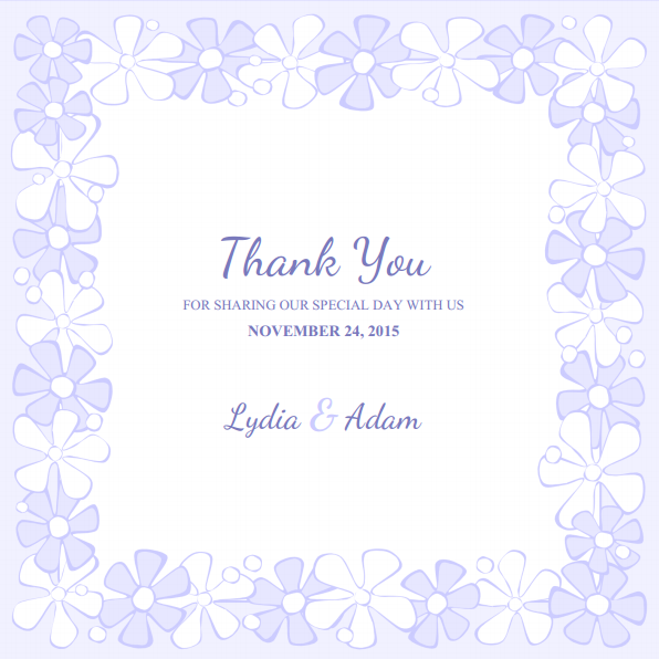 picture regarding Free Printable Thank You Card Template named Free of charge printable thank on your own card templates