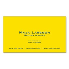 Back of Swedish flag business cards / Swedish teacher business cards
