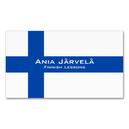 Finland flag business cards / Finnish teacher business cards