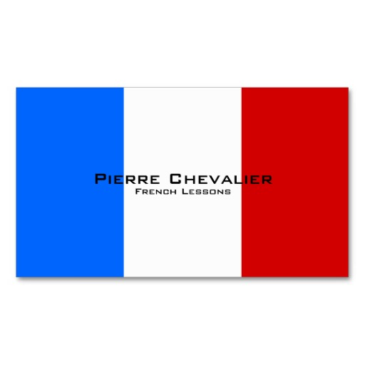 French flag business cards / French teacher business cards